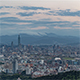 Wide angle view of Taipei's downtown from the Mountains - VideoHive Item for Sale