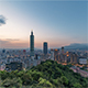 Taipei, Taiwan, Timelapse  - Wide Angle view of Taipei's downtown from day to night - VideoHive Item for Sale