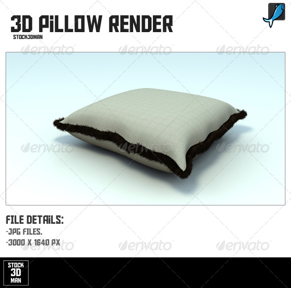 3D Pillow Render - Objects 3D Renders