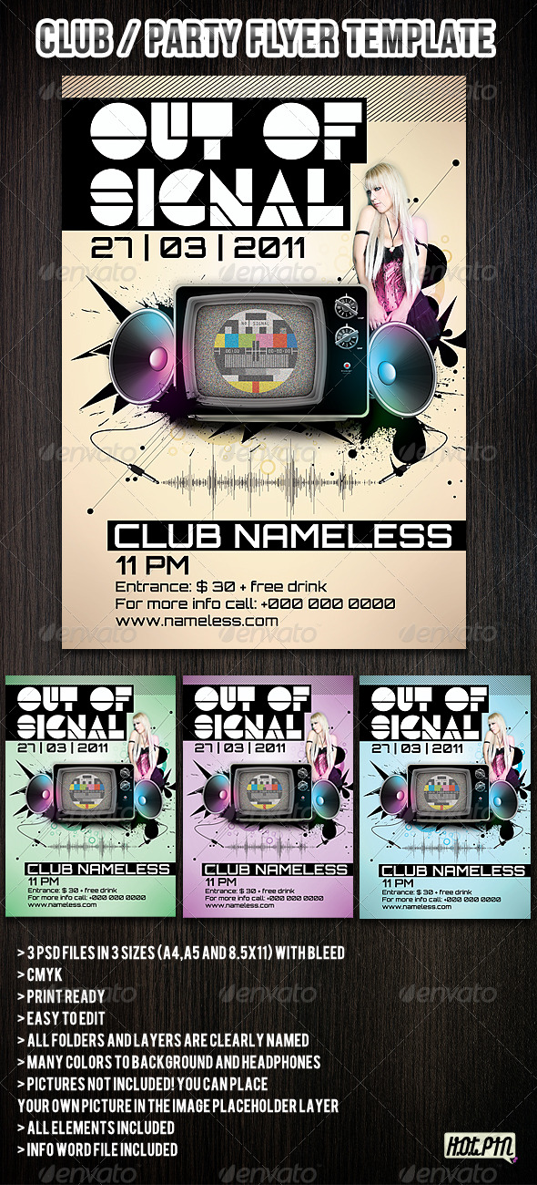 Colorful Club/ Party Flyers Template - Clubs & Parties Events