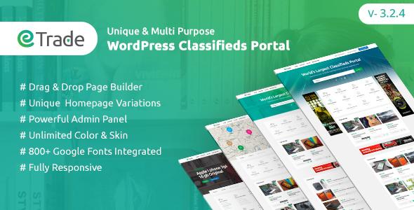 Trade - Modern Classified Ads WordPress Theme - Directory & Listings Corporate