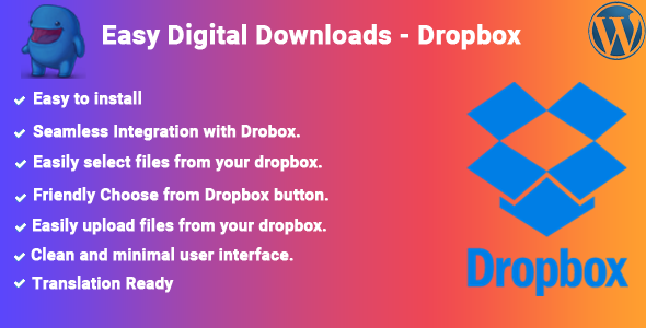 Easy Digital Downloads - Dropbox - CodeCanyon Item for Sale