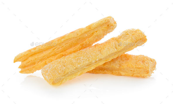 Pie or bread Sticks on white background - Stock Photo - Images
