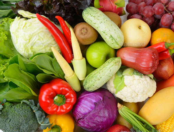 vegetables and fruits - Stock Photo - Images