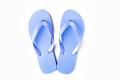 Blue flip flops isolated on white background