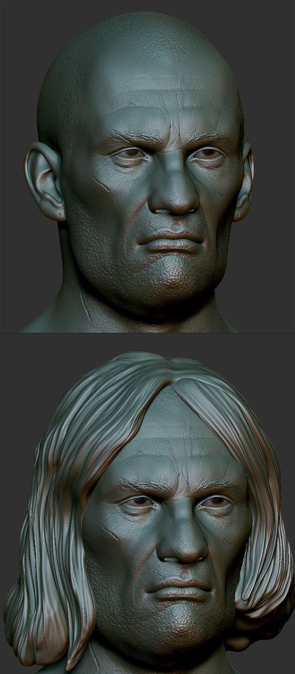 Bad guy head Zbrush Sculpt - 3DOcean Item for Sale