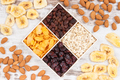 Healthy dried ingredients containing minerals, carbohydrates and dietary fiber
