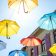 Colorful umbrellas background. - PhotoDune Item for Sale