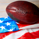 American football ball and old glory flag - PhotoDune Item for Sale