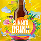 Summer Drink Party - GraphicRiver Item for Sale