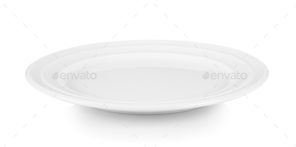 plate on white background - Stock Photo - Images
