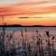 Crimson Sunset on the Background of the Gulf of Bothnia - VideoHive Item for Sale