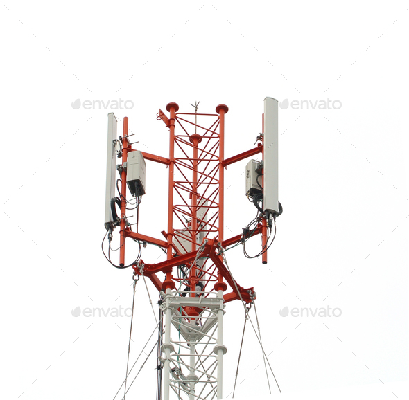Antenna Tower of Communication - Stock Photo - Images