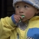 A Small Nepalese Girl Eats Candy - VideoHive Item for Sale