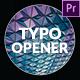 Typo Opener - VideoHive Item for Sale