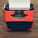 Vintage typewriter on wooden background - PhotoDune Item for Sale
