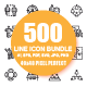 Set of Thin Line Business Icons - GraphicRiver Item for Sale