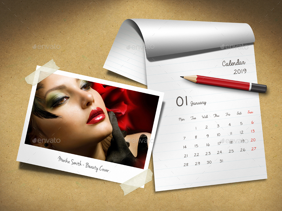 Customizable Calendar 2019 Photo Frame V06