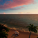 Drone View At The Beach With Sunset - VideoHive Item for Sale