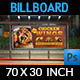 Restaurant Billboard Template Vol.13 - GraphicRiver Item for Sale
