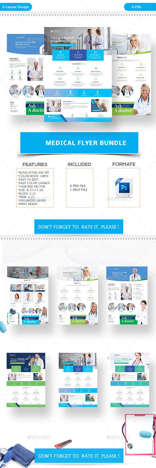 Medical Flyer Bundle - Flyers Print Templates