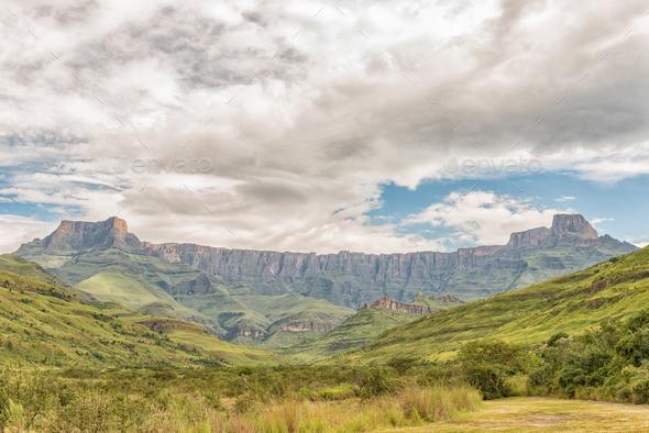 Amphitheatre in the Kwazulu-Natal Drakensberg - Stock Photo - Images