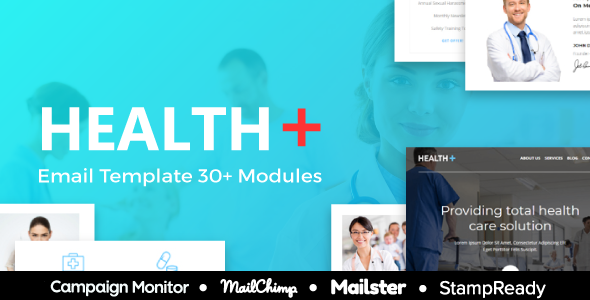 Health - Responsive Email for 30+ Modules - StampReady Builder + Mailster & Mailchimp Editor - Newsletters Email Templates