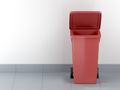 Red plastic waste container - PhotoDune Item for Sale