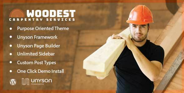 Image of Woodest - Wood Carpentry WordPress Theme