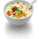 soy milk soup, taiwanese breakfast isolated on white background - PhotoDune Item for Sale
