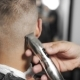 Tattoed Barber Makes Haircut for Customer at the Barber Shop By Using Hairclipper, Man's Haircut  - VideoHive Item for Sale