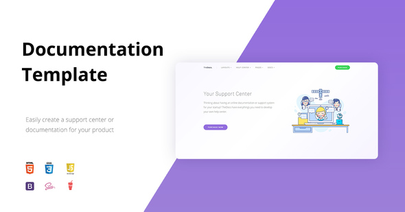 TheDocs - Online Documentation Template - Software Technology