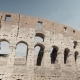 Ruins of the Roman Colosseum. Vehicles and People, Pan Shot - VideoHive Item for Sale