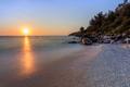 Marble beach (Saliara beach), Thassos Island, Greece