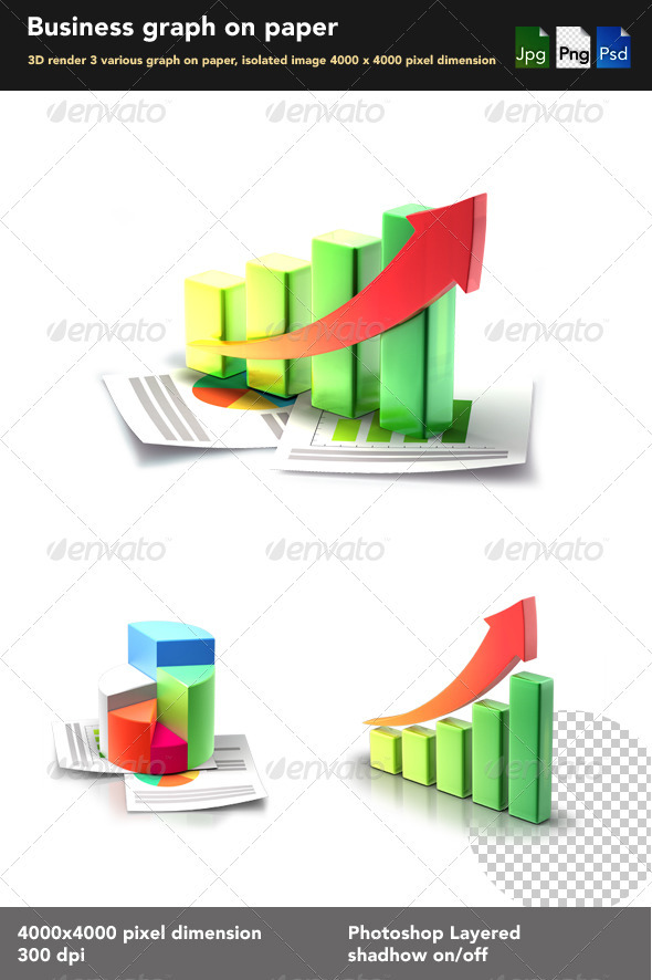 Business 3D Graph  - Objects 3D Renders