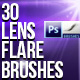 30 Lens Flare Brushes for P-Graphicriver中文最全的素材分享平台
