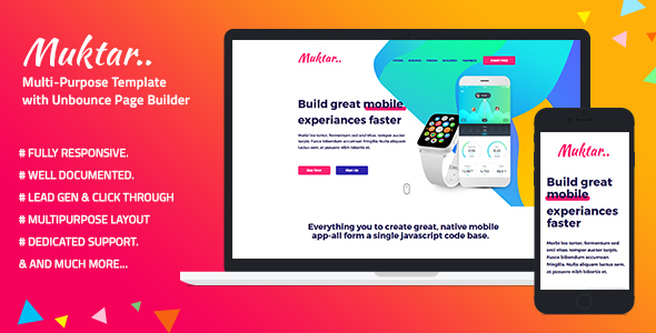 Multi-Purpose Template with Unbounce Page Builder — Muktar - Unbounce Landing Pages Marketing
