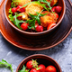 Salad with strawberry and fried cheese - PhotoDune Item for Sale