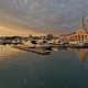 Panarama of Luxury Yachts Docked in Sea Port at Sunset, Sochi,  Video - VideoHive Item for Sale
