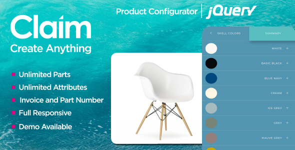 Claim - HTML & JQuery Multi-purpose Configurator - CodeCanyon Item for Sale