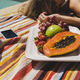 Relaxing by the pool with fresh fruit. - PhotoDune Item for Sale