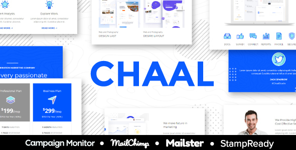 Image of Chaal - Business Email Set - 100+ Modules StampReady Builder + Mailster & Mailchimp Editor