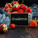 Strawberries in a box on a  table - PhotoDune Item for Sale