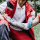 First aid paramedic in training, treating third degree burns - PhotoDune Item for Sale