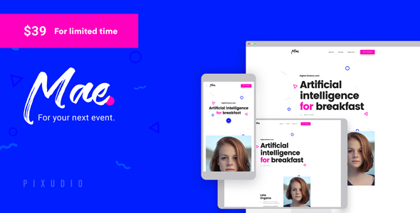 Image of Mae - Event and Conference WordPress Theme