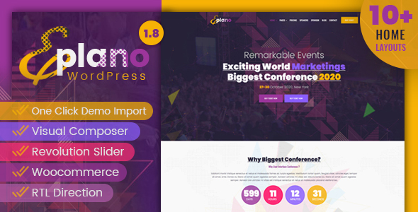 Eplano - Event and Conference WordPress Theme