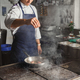 Chef cooking meat at restaurant or hotel kitchen - PhotoDune Item for Sale
