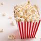 Bucket of popcorn on white background - PhotoDune Item for Sale