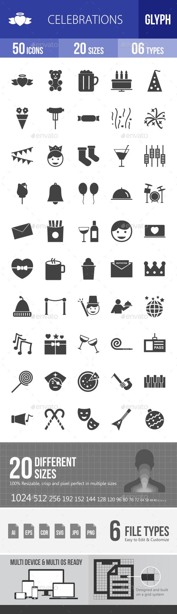 Celebrations Glyph Icons - Icons