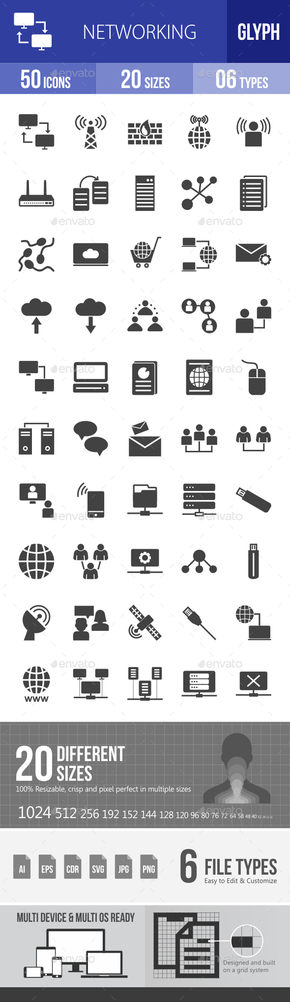 Networking Glyph Icons - Icons